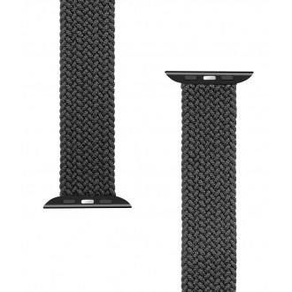 Tactical 769 Pletený Převlékací Řemínek pro iWatch 1/2/3/4/5/6/SE 42/44mm vel. L Black