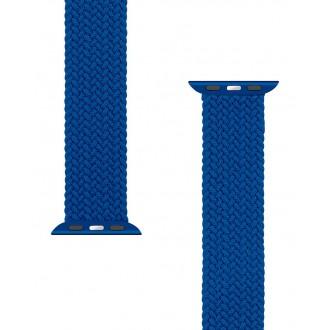 Tactical 765 Pletený Převlékací Řemínek pro iWatch 1/2/3/4/5/6/SE 38/40mm vel. XL Blue