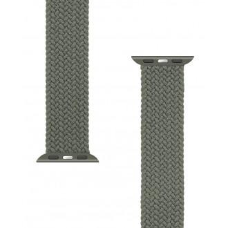 Tactical 766 Pletený Převlékací Řemínek pro iWatch 1/2/3/4/5/6/SE 38/40mm vel. XL Green