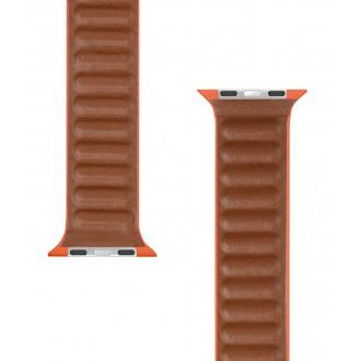 Tactical 742 Loop Kožený Řemínek pro iWatch 1/2/3/4/5/6/SE 42/44mm Sunset