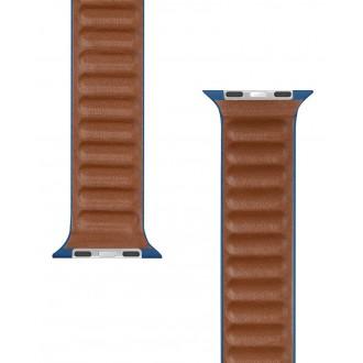 Tactical 739 Loop Kožený Řemínek pro iWatch 1/2/3/4/5/6/SE 42/44mm Mighnt Blue