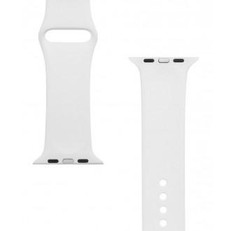 Tactical 499 Silikonový Řemínek pro iWatch 4 44mm White