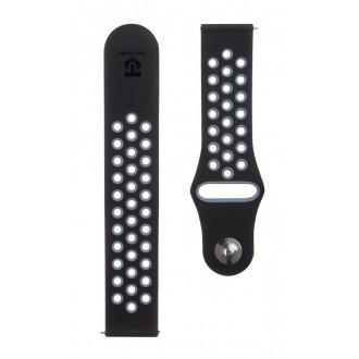 Tactical 252 Double Silikonový Řemínek pro Xiaomi Amazfit Bip Black/Grey