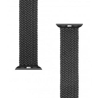 Tactical 754 Pletený Převlékací Řemínek pro iWatch 1/2/3/4/5/6/SE 38/40mm vel. M Black