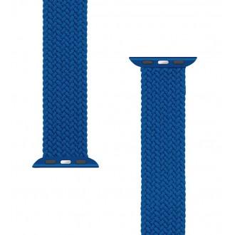 Tactical 775 Pletený Převlékací Řemínek pro iWatch 1/2/3/4/5/6/SE 42/44mm vel. M Blue