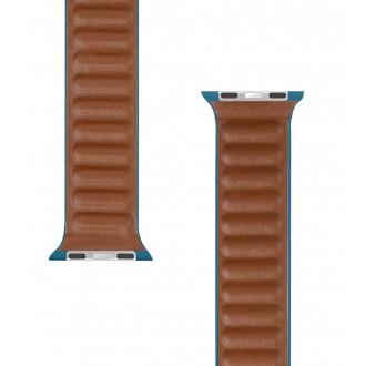 Tactical 730 Loop Kožený Řemínek pro iWatch 1/2/3/4/5/6/SE 38/40mm Sea Blue