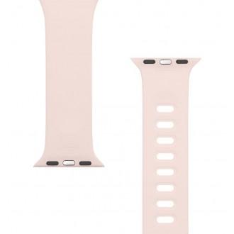 Tactical 791 Silikonový Řemínek s Přezkou pro Apple iWatch 1/2/3/4/5/6/SE 38/40mm Pink