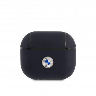 BMA3SSLNA BMW Signature Kožené Pouzdro pro AirPods 3 Navy