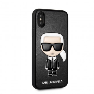 Karl Lagerfeld Ikonik TPU Case Black pro iPhone X / XS (KLHCPXIKPUBK)