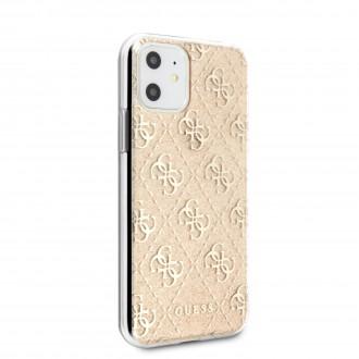 GUHCN61PCU4GLGO Guess 4G Glitter Zadní Kryt pro iPhone 11 Gold