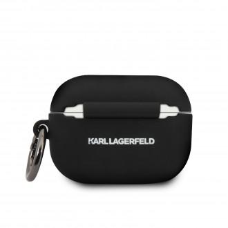 KLACAPSILGLBK Karl Lagerfeld Silikonové Pouzdro pro Airpod Pro Black