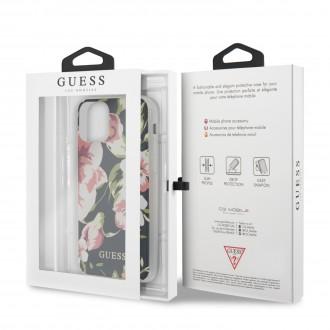 Guess Flower Shiny N.3 Zadní Kryt pro iPhone 11 Navy (GUHCN61IMLFL03)