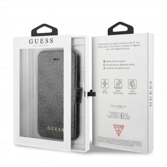 Guess 4G Pouzdro pro iPhone 7/8/SE2020 Grey (GUFLBKSI84GG)