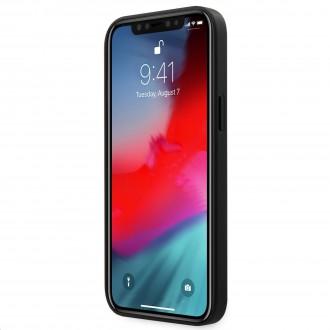 Guess 4G Triangle Zadní Kryt pro iPhone 12 Pro Max Grey (GUHCP12LPU4GHBK)