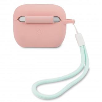 GUACAPLSVSPG Guess Vintage Silikonové Pouzdro pro Airpods Pro Pink