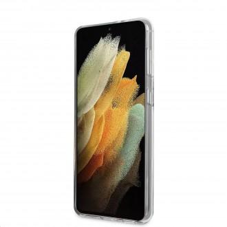 Guess PC/TPU Vintage Zadní Kryt pro Samsung Galaxy S21+ Gradient Black (GUHCS21MPCUGLSBK)