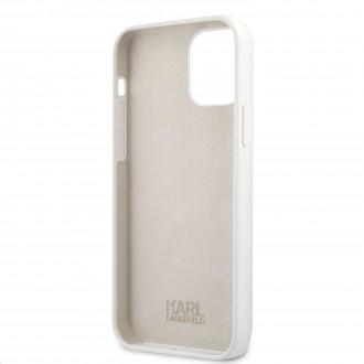 Karl Lagerfeld Choupette Head Silikonový Kryt pro iPhone 12 Pro Max 6.7 White (KLHCP12LSLCHWH)