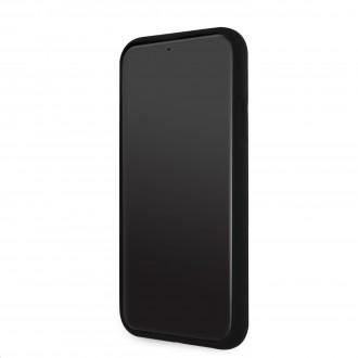 Karl Lagerfeld Iconic Outline Silikonový Kryt pro iPhone 11 Tone on Tone Black (KLHCN61SILTTBK)