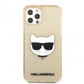 Karl Lagerfeld Choupette Head Glitter Kryt pro iPhone 12 Pro Max 6.7 Gold (KLHCP12LCHTUGLGO)