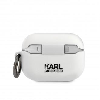 KLACAPSILGLWH Karl Lagerfeld Karl Head Pouzdro pro Airpods Pro White