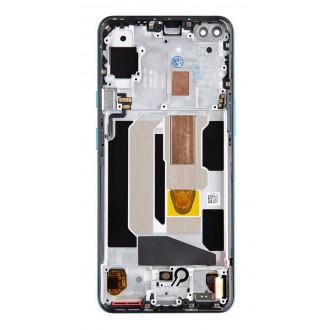 LCD Display + Dotyková Deska + Přední Kryt pro OnePlus Nord Blue Marble
