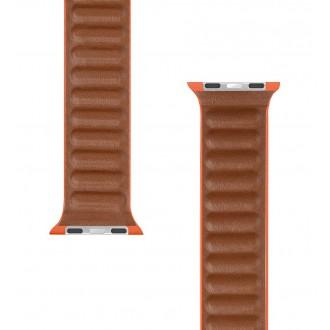 Tactical 731 Loop Kožený Řemínek pro iWatch 1/2/3/4/5/6/SE 38/40mm Sunset