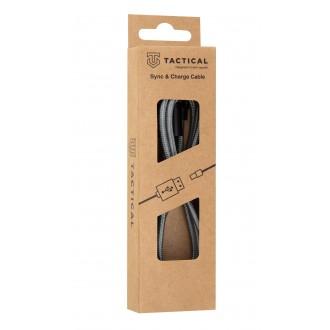 Tactical 022 Fast Rope Kevlar Cable USB-A/USB-C 1m Grey