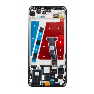 Huawei  P30 Lite LCD Display + Dotyková Deska + Přední Kryt Black (pro 24MP foto)