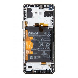 Huawei P40 Lite 5G LCD Display + Dotyková Deska + Přední Kryt Black (Service Pack)
