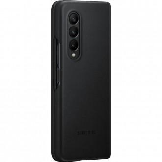 EF-VF926LBE Samsung Kožený Kryt pro Galaxy Z Fold 3 Black