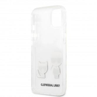 KLHCP13SCKTR Karl Lagerfeld PC/TPU Ikonik Kryt pro iPhone 13 mini Transparent