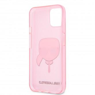 KLHCP13SKHTUGLP Karl Lagerfeld TPU Full Glitter Karl Head Kryt pro iPhone 13 mini Pink