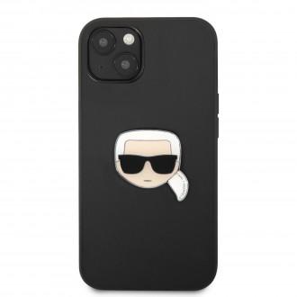 KLHCP13SPKMK Karl Lagerfeld PU Leather Karl Head Kryt pro iPhone 13 mini Black