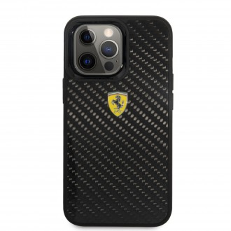 FEHCP13LFCABK Ferrari Real Carbon Zadní Kryt pro iPhone 13 Pro Black