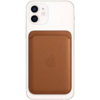 MHLT3ZM/A Apple iPhone Leather Wallet with MagSafe Saddle Brown