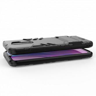 Odolný zadní panzer hybrid kryt na telefon Xiaomi Redmi 9 černý