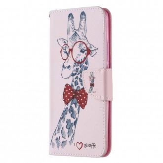 PU kožené knížkové pouzdro pro Xiaomi Redmi 9 - Adorable Giraffe