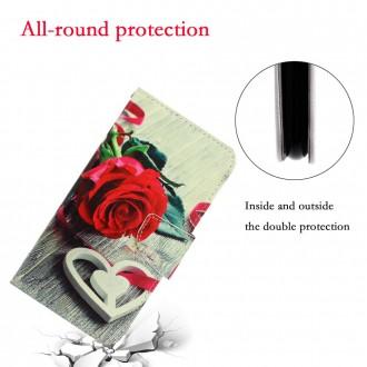 PU kožené knížkové pouzdro pro Xiaomi Redmi 9 - Rose