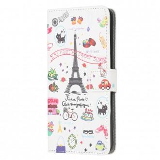 PU kožené knížkové pouzdro pro Xiaomi Redmi 9A - Eiffel Tower
