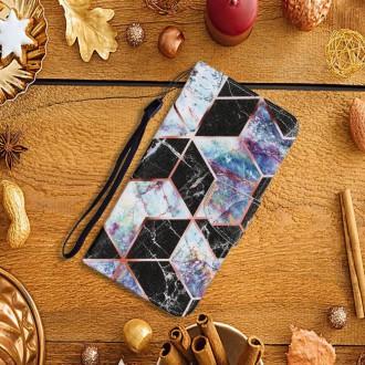 PU kožené knížkové pouzdro pro Xiaomi Redmi Note 9S/Redmi Note 9 Pro/Redmi Note 9 Pro Max- Geometry