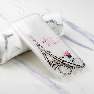 SILIKONOVÝ OBAL NA SAMSUNG GALAXY A51 - Eiffel Tower and Bicycle