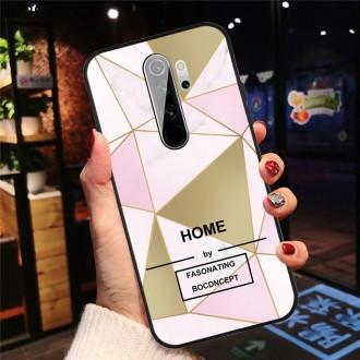 Silikonový obal na telefon Xiaomi Redmi 9 - Pink/Gold Triangle