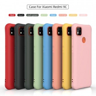 Silikonový obal na telefon Xiaomi Redmi 9C - Matte Soft -  Black