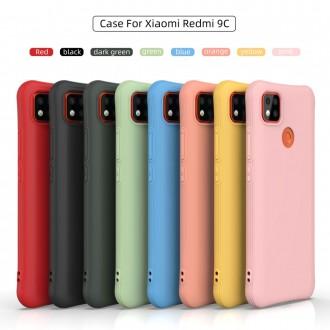 Silikonový obal na telefon Xiaomi Redmi 9C - Matte Soft - Dark Green