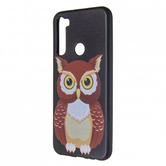 Silikonový obal na telefon Xiaomi Redmi Note 8T - Brown Owl