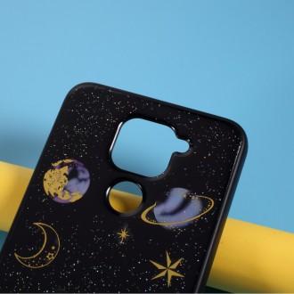 Silikonový obal na telefon Xiaomi Redmi Note 9 - Star Planet - Black