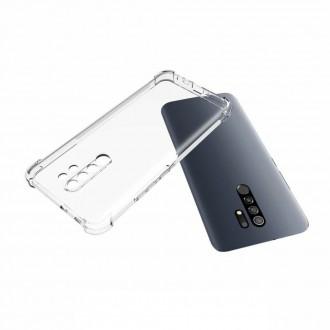 Silikonový shockproof obal na telefon Xiaomi Redmi 9 - transparentní