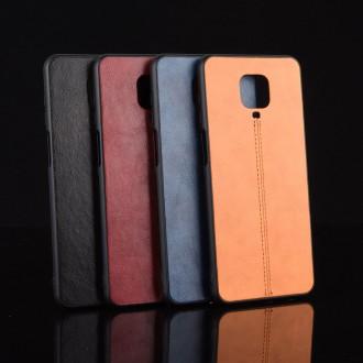 Zadní kožený kryt na telefon Xiaomi Redmi Note 9S/Redmi Note 9 Pro/Redmi Note 9 Pro Max černý