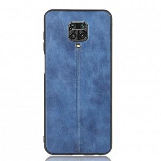Zadní kožený kryt na telefon Xiaomi Redmi Note 9S/Redmi Note 9 Pro/Redmi Note 9 Pro Max - modrý